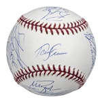 2004 Boston Red Sox Team Signed OML Selig World Series Baseball With 22 Signatures Including Wakefield, Francona, and Ortiz (MLB Authenticated)