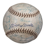 1956 World Series Champions New York Yankees Team Signed Baseball With 26 Signatures Including Mantle, Ford, and Berra (JSA)
