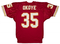 Circa 1990 Christian Okoye Game Used Kansas City Chiefs Home Jersey (MEARS)
