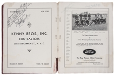 1930 University of Notre Dame Team Signed Official Football Review With 29 Signatures (PSA/DNA)