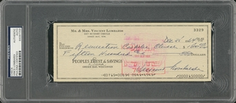 1964 Vince Lombardi Signed Personal Check Dated 12/25/1964 (PSA/DNA)