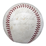 Mid 1960s Pittsburgh Pirates Multi Signed ONL Giles Baseball With 8 Signatures Including Clemente, Stargell, Traynor & Willie Mays (PSA/DNA)