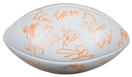 1996 AFC Pro Bowl Multi Signed Wilson Football With Over 25 Signatures Including Derrick Thomas (JSA)