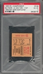 "1958 Baltimore Colts Historic NFL Championship Ticket Stub From The Greatest Game Ever Played - PSA VG-EX 4 ""1 of 1!"""