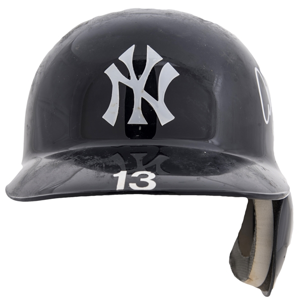 Batting Helmet Used By Alex Rodriguez To Hit Career Home Run #600 On 8/4/10 (MLB Authenticated & Rodriguez LOA)
