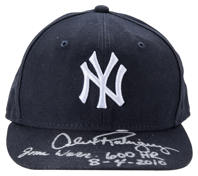 New York Yankees Cap Used By Alex Rodriguez To Hit Career Home Run #600 On 8/4/10 (Rodriguez LOA)