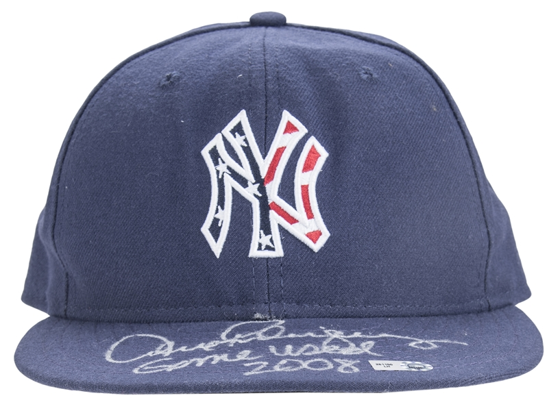 2008 Alex Rodriguez Game Used & Signed New York Yankees Independence Day Weekend Cap (MLB Authenticated)