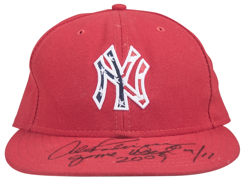 2009 Alex Rodriguez Game Used & Signed New York Yankees 9/11 Cap (MLB Authenticated & Beckett)
