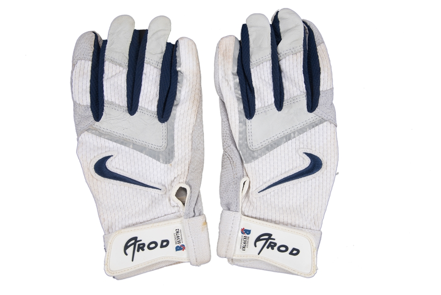 2007 Alex Rodriguez Game Used & Signed Nike Batting Gloves Used To Hit Career Home Run #502 (Rodriguez LOA & Beckett)