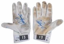 2010 Alex Rodriguez Game Used & Signed Nike Batting Gloves Used For Career Home Run #590 - Grand Slam #20 (MLB Authenticated & Beckett)