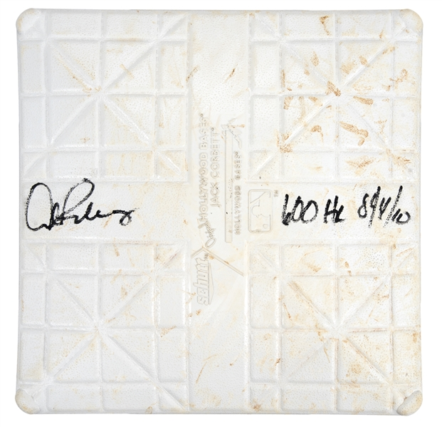 First Base From Alex Rodriguez's Career Home Run #600 Game On 8/4/10 Signed & Inscribed By Arod (MLB Authenticated & Steiner)