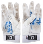 2010 Alex Rodriguez Game Used & Signed Nike Batting Gloves Used For Career Home Run #597 (Rodriguez LOA)
