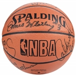 1984-85 Chicago Bulls Team Signed Spalding Basketball With 11 Signatures Including Michael Jordan (Beckett MINT 9)