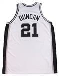 2001-02 Tim Duncan Game Used San Antonio Spurs Home Jersey