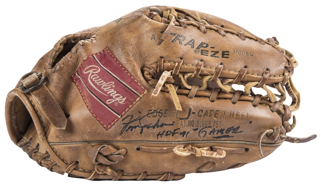 1971 Fergie Jenkins Game Used & Signed Rawlings TG12X Model Glove - Cy Young Season (PSA/DNA & Beckett)