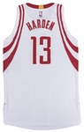 2016 James Harden Game Used Houston Rockets Home Jersey Photo Matched To Triple-Double Game On 11/12/16 (Resolution Photomatching)