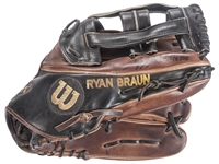 2011 Ryan Braun Game Used & Signed Wilson A2K1799 Fielders Glove (MEARS & Beckett)