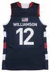 "2017 Zion Williamson Game Used ""The Path"" Team USA High School Jersey (MEARS A10)"
