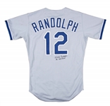 1989 Willie Randolph Game Used and Signed Los Angeles Dodgers Road Jersey (Randolph LOA)