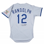1990 Willie Randolph Game Used and Signed Los Angeles Dodgers Road Jersey (Randolph LOA)