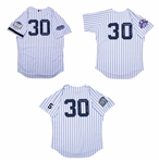 Lot of (3) Willie Randolph Game Used and Signed All Star Game New York Yankees Home Coaches Jerseys Including 1995, 1999, and 2008 (Randolph LOA)