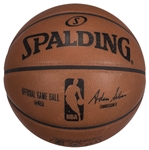 2015 Minnesota Timberwolves & Golden State Warriors Game Used Spalding Basketball Photo Matched To 4 Games (Resolution Photomatching)