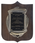 1980 Most Popular Yankee Award Presented to Willie Randolph (Randolph LOA)