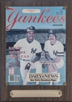 "1986 Yankees Magazine ""Co-Captains"" May 15, 1986 Congratulatory Award (Randolph LOA)"