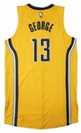 2016-17 Paul George Eastern Conference Quarterfinals Game Used Indiana Pacers Alternate Jersey Photo Matched To 4/20/17 (Resolution Photomatching)