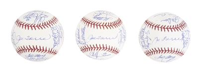 Lot of (3) 2003 American League Champion New York Yankees Team Signed Baseballs From The Willie Randolph Collection (MLB Authenticated & Randolph LOA  )