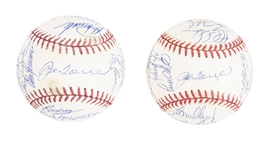 Lot of (2) 1998 & 2002 New York Yankees Team Signed Baseballs From The Willie Randolph Collection ( Beckett PreCert)