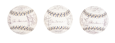 Lot of (3) 2002 Team Signed All Star Baseballs From The Willie Randolph Collection (Randolph LOA & Beckett PreCert)
