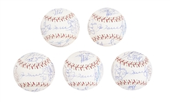 Lot of (5) 2004 Team Signed All Star Baseballs From The Willie Randolph Collection (Randolph LOA, MLB Authenticated & Beckett PreCert)