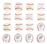 Lot of (16) Reggie Jackson Single Signed Baseballs From The Willie Randolph Collection (Beckett PreCert)