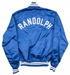 1989-90 Willie Randolph Game Used, Signed & Inscribed Los Angeles Dodgers Windbreaker (Randolph LOA)