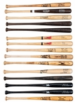 Lot of (15) Game Issued Bats From The Willie Randolph Collection Including Lofton x2, Griffey & Randolph (Randolph LOA)