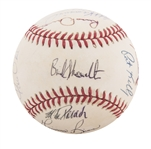 1995 New York Yankees Team Signed OAL Budig Baseball with 21 Signatures Including Rookie Derek Jeter and Mariano Rivera from the Willie Randolph Collection (Randolph LOA & Beckett)