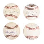 Lot of (4) Game Used & Signed OAL/OML Baseballs From The Willie Randolph Collection (Randolph LOA & Beckett PreCert)