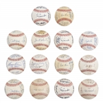 Lot of (14) Assorted Multi & Team Signed Baseballs from the Willie Randolph Collection Including Dodgers, Yankees, Red Sox and Others (Randolph LOA & Beckett PreCert)