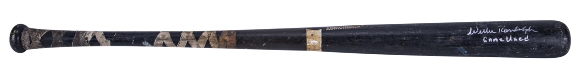 1991 Willie Randolph Game Used & Signed Milwaukee Brewers Rawlings 423B Model Bat (Randolph LOA)