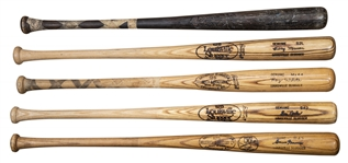 Lot of (5) New York Yankees Game Used & Issued Bats Including Roy White, Bobby Murcer, Ken Griffey & Graig Nettles (Randolph LOA)