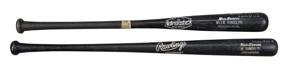 Lot of (2) Willie Randolph Game Used & Signed Adirondack Pro Model Bats (Randolph LOA)