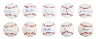 Lot of (10) 1980s New York Yankees Signed Baseballs with Goose Gossage, Ron Guidry, and Rickey Henderson from the Willie Randolph Collection (Randolph LOA & Beckett PreCert)
