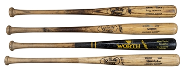 Lot of (4) New York Yankees Game Used Players Bats Gifted To Willie Randolph (Randolph LOA)
