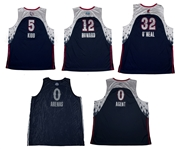 Lot of (5) 2007 Eastern Conference All-Star Signed Jerseys Featuring Kidd, ONeal & Howard (Arenas LOA & Beckett)