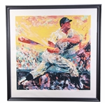 "Original Mickey Mantle Leroy Neiman Signed and Framed 42x44"" Artist Proof Serigraph 41/70 (Beckett)"
