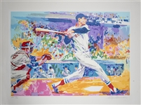 "Ted Williams Original Leroy Neiman Signed Artist Proof 27""x34"" Serigraph 28/50 (Beckett)"