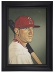 """A Young Man Named Trout: Diamond Series #17"" Original Canvas Artwork by Artist Arthur Miller 13x18 Framed Display"