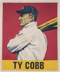 """A Baseball Card That Never Was: Ty Cobb (1948 Leaf)"" Original Canvas Artwork 25x30 by Arthur Miller"