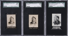 1901-1905 Ogdens Cigarettes and Cousis Cigarettes Thomas Edison SGC-Graded Trio (3 Different)